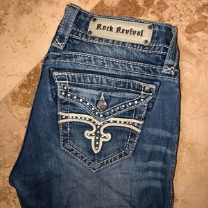 Rock Revival Cropped Jean